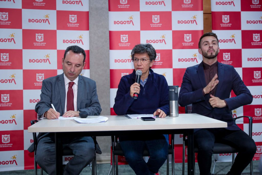 Rueda de prensa, medidas de prevención COVID-19, Bogotá