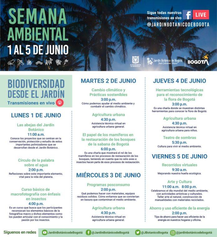 Agenda jardin botanico